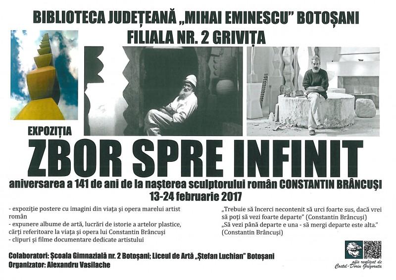 """""""Infinit și definit"""" în opera lui Brâncuși, la Biblioteca Județeană Botoșani"""