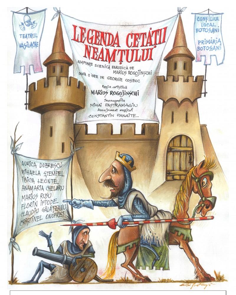 """""""Legenda Cetăţii Neamţului"""" pentru mari și mici, la Teatrul pentru Copii şi Tineret """"Vasilache"""""""