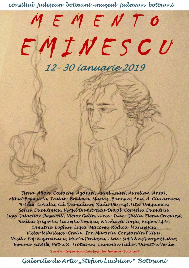 """""""Memento Eminescu"""", la Galeriile de Artă """"Ştefan Luchian"""" Botoşani!"""
