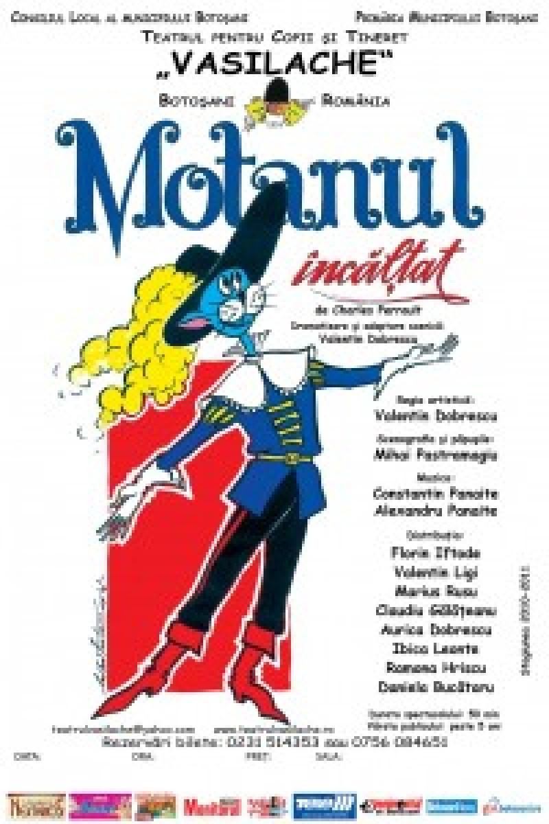 """""""Motanul încălţat"""" vine duminică la Teatrul Vasilahe"""