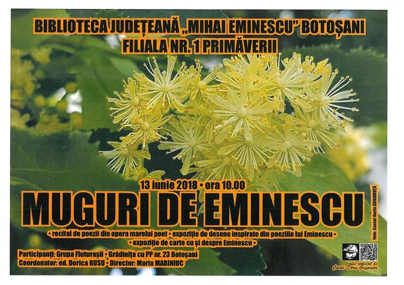"""Muguri de Eminescu"", la Biblioteca Judeteana Botoșani!"