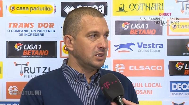 """""""Nu mă simt confortabil când încurc undeva!"""" Costel Enache, despre plecarea de la FC Botoşani"""