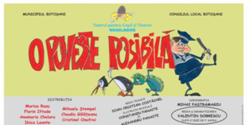 """""""O poveste posibilă"""", duminică, la Teatrul pentru Copii şi Tineret """"Vasilache"""""""
