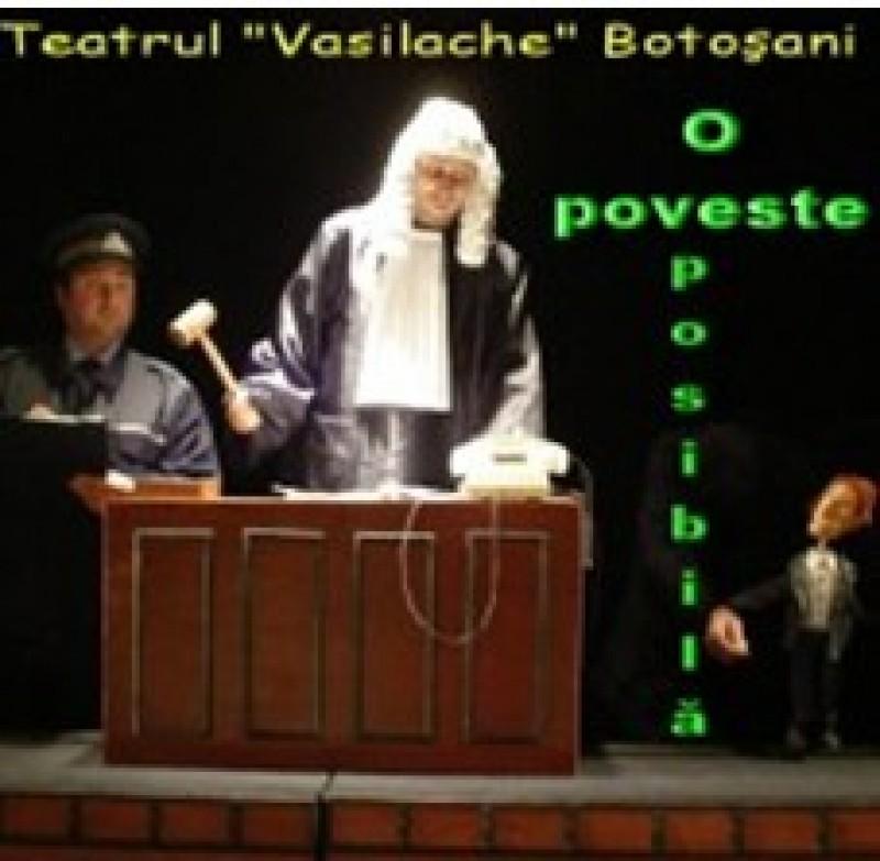 """""""O poveste posibilă"""", duminică, la Teatrul """"Vasilache"""""""