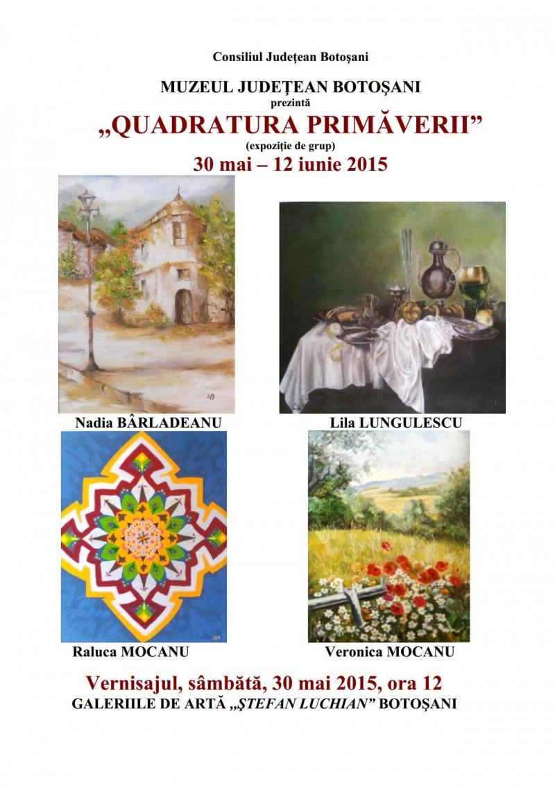 """""""Quadratura primăverii"""", la Galeriile de Artă!"""