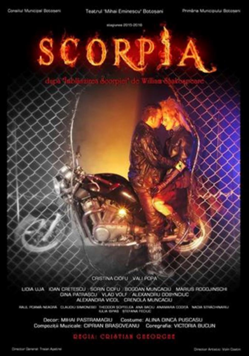 """""""Scorpia"""" şi """"Strunga dintre moarte şi viaţă"""", la Teatrul Eminescu Botoşani!"""