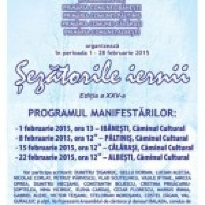 """""""Sezatorile iernii"""", la a XXV-a editie la Botoşani"""