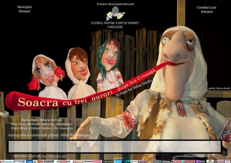 """""""Soacra cu trei nurori"""" revine pe scena Teatrului Vasilache!"""