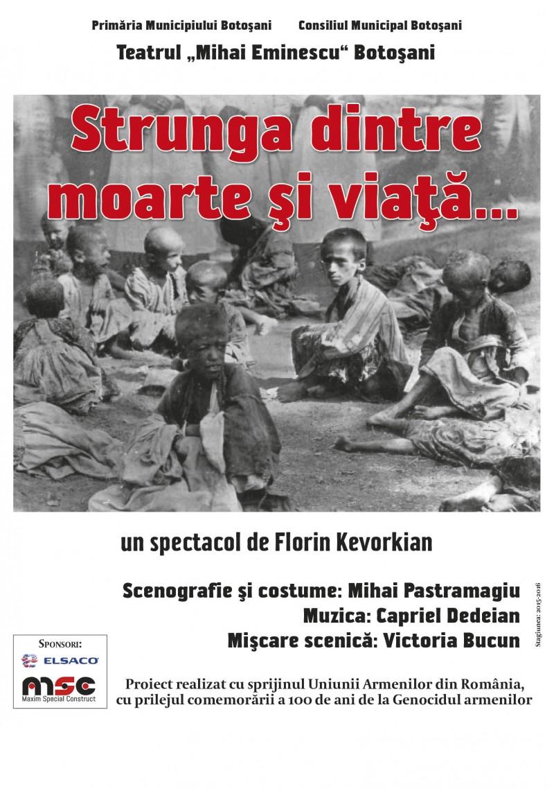 """""""Strunga dintre moarte și viață"""", la Teatrul Eminescu Botoşani!"""