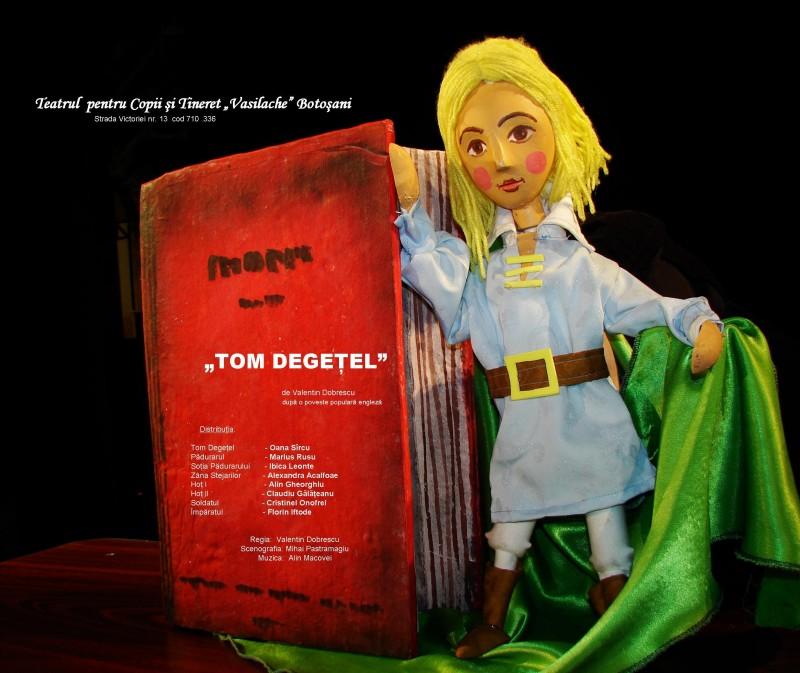 """""""Tom Degețel"""" vă invită, duminică, la Teatrul Vasilache!"""