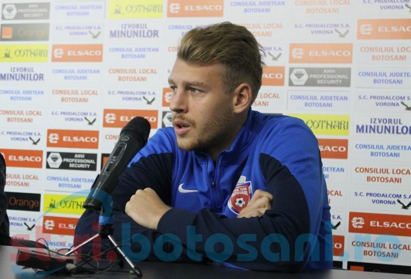 """""""Trebuie să rămân cu capul pe umeri"""", spune Târnovan înaintea meciului cu Voluntari"""