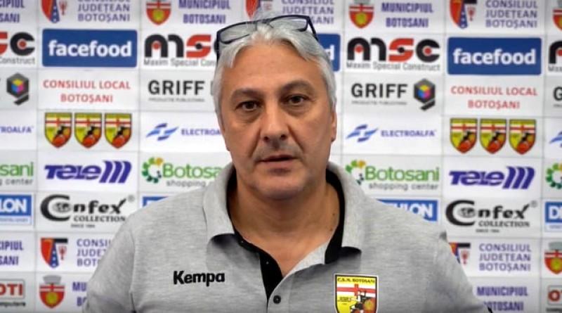 """Antrenorul CSM Botoșani, Radu Roșu: """"Mă bucur că haosul nu m-a prins la Roma!"""""""