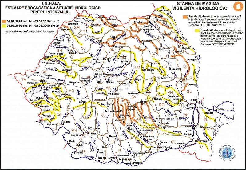 Râurile Jijia, Başeu şi Prut, în atenţia hidrologilor din cauza precipitaţiilor abundente UPDATE