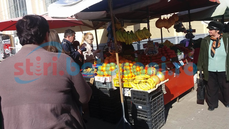 Razie a poliţiştilor printre comercianţii din oraşul Flămânzi