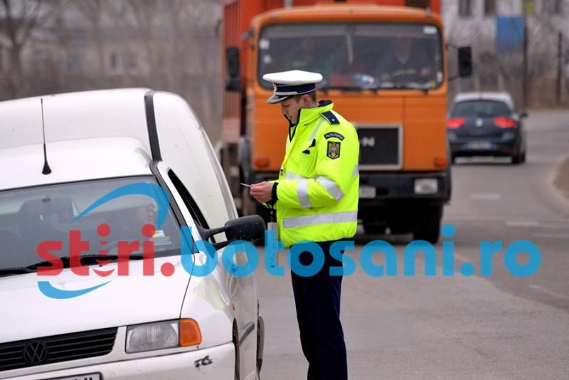 Razie la Dorohoi: Sute de persoane legitimate, mașini oprite în trafic și amenzi de mii de lei!