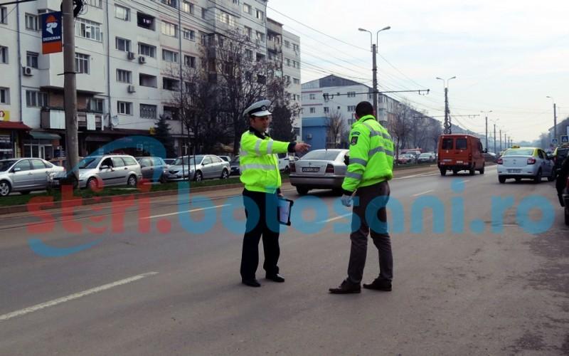 Noi acțiuni ale polițiștilor rutieri din Botoșani! Șoferi lăsați fără permis pentru că nu au acordat prioritate pietonilor
