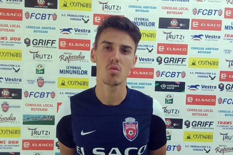 """Răzvan Oaidă: """"Sub nicio formă nu mă gândesc la un transfer. Sunt la Botoșani, mă simt foarte bine aici"""""""