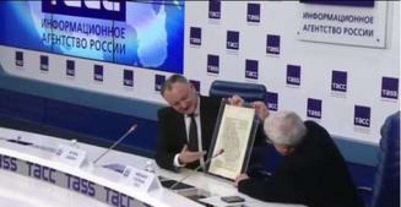 "Reactia MAE la afirmatiile lui Dodon si harta ""Moldovei mari"""