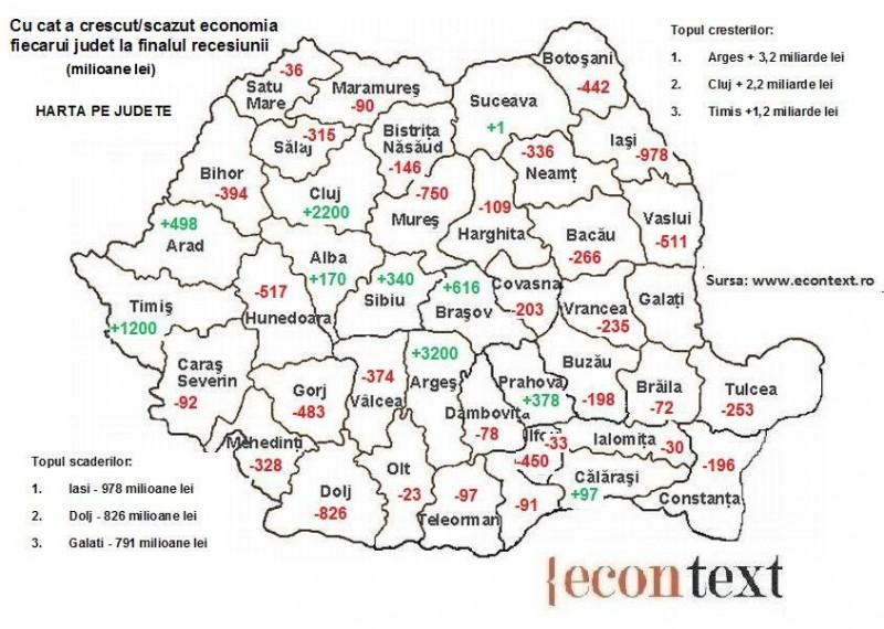 Recesiunea Rupe Romania In Doua Harta Judetelor Care S Au