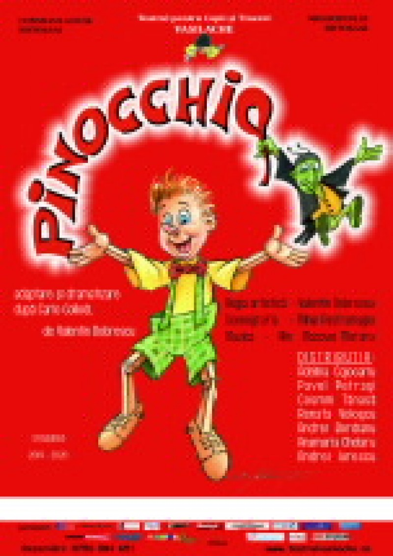 "Recomandare de weekend: ""Pinocchio"", la Teatrul ""Vasilache"""