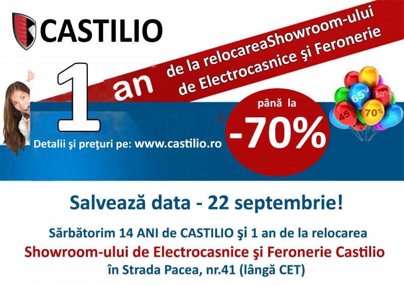 Reduceri de până la 70% la 14 ani de Castilio si 1 an de la relocarea Showroom-ului de Electrocasnice