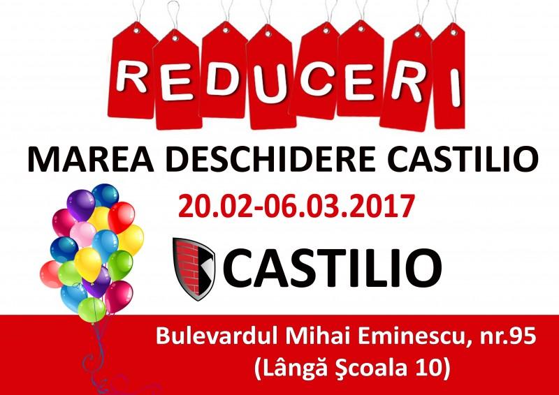 Reduceri la deschiderea magazinului Castilio de pe 20 februarie
