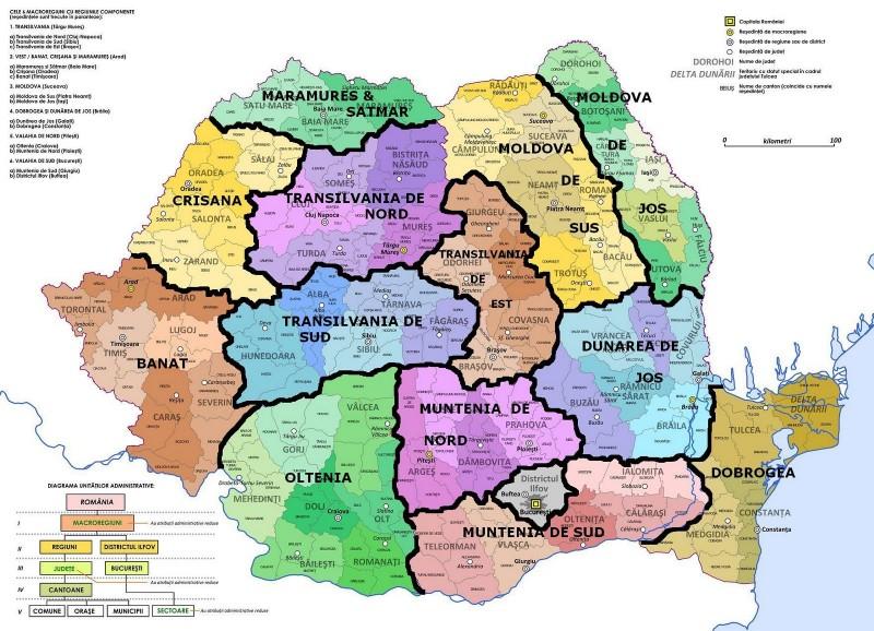 Regionalizarea Romaniei, in viziunea lui Basescu. Botosaniul se rupe de Suceava