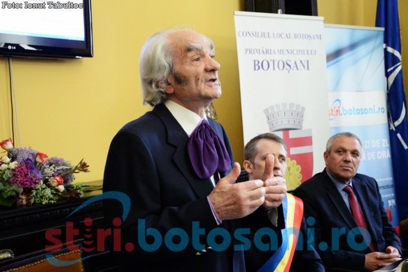 RESPECT, Botoşani! Ţi-ai ales Cetăţeanul de Onoare: Acad. prof.dr. LEON DĂNĂILĂ! FOTO, VIDEO