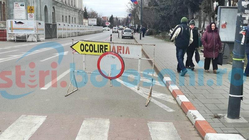 """Restricții de circulație în centrul municipiului Botoșani. """"Vom fi mult mai atenți la cine intră, cine iese""""- FOTO"""