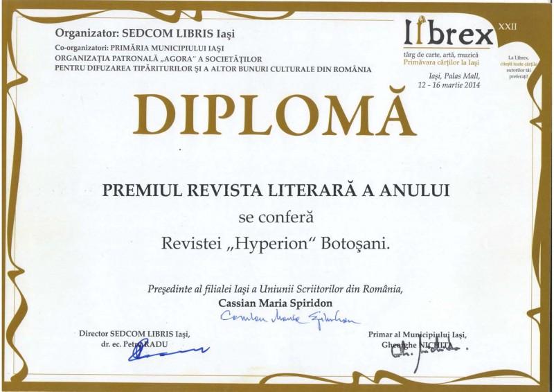 Revista Hyperion - Revista literară a anului!