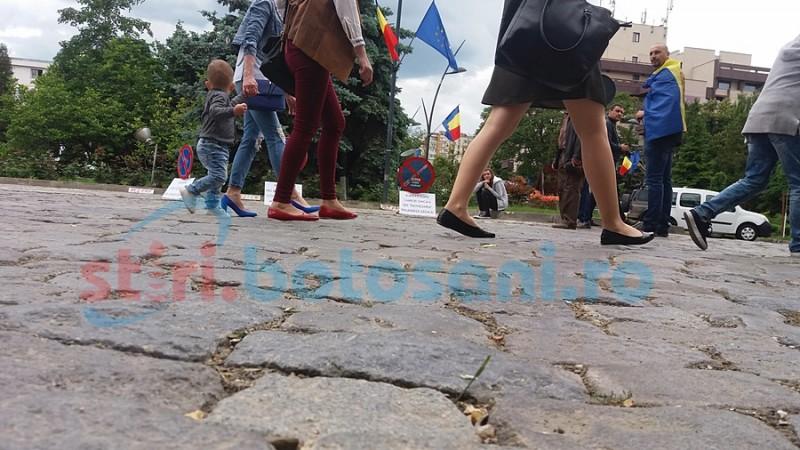 Româncă abuzată de statul finlandez care i-a răpit copiii, susţinută de la Botoşani! FOTO, VIDEO