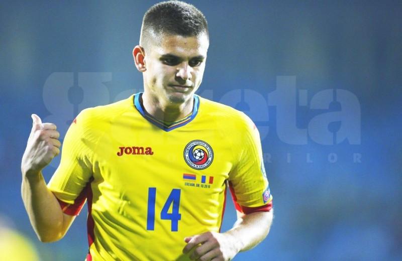Romania a invins cu 5-0 pe Armenia! Razvan Marin a debutat cu gol la nationala! VIDEO