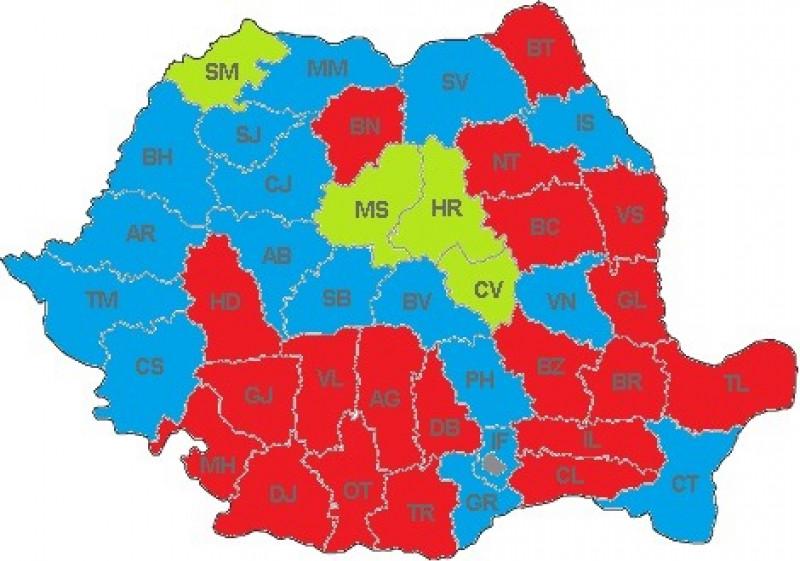 România a redevenit roșie