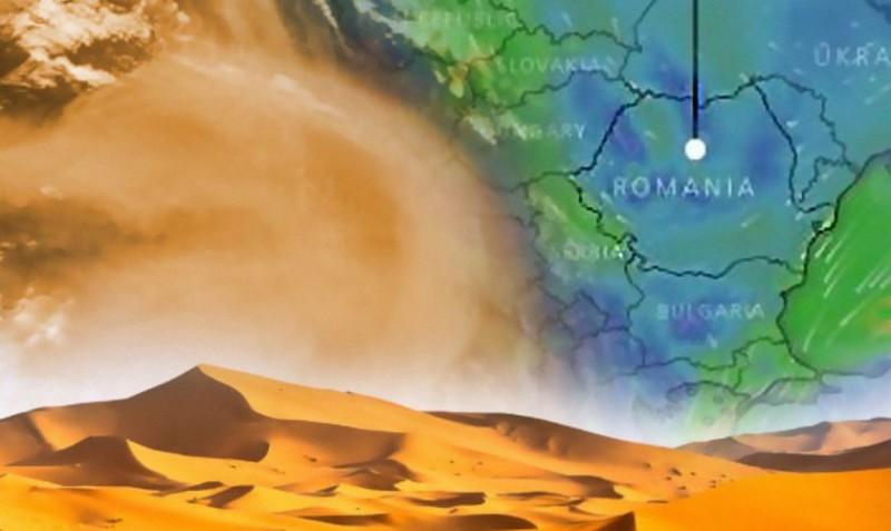 România, afectată de un nor uriaș de praf saharian. Cât timp va dura fenomenul