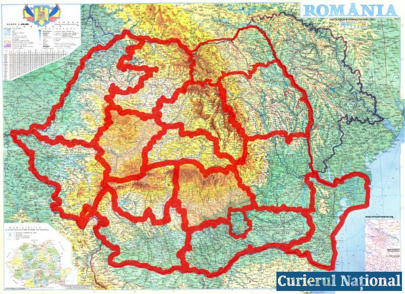 Romania se pregateste de o noua impartire administrativ-teritoriala!