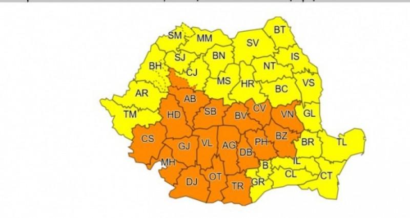 România sub avertizare meteo până marți seara! COD GALBEN la Botoșani