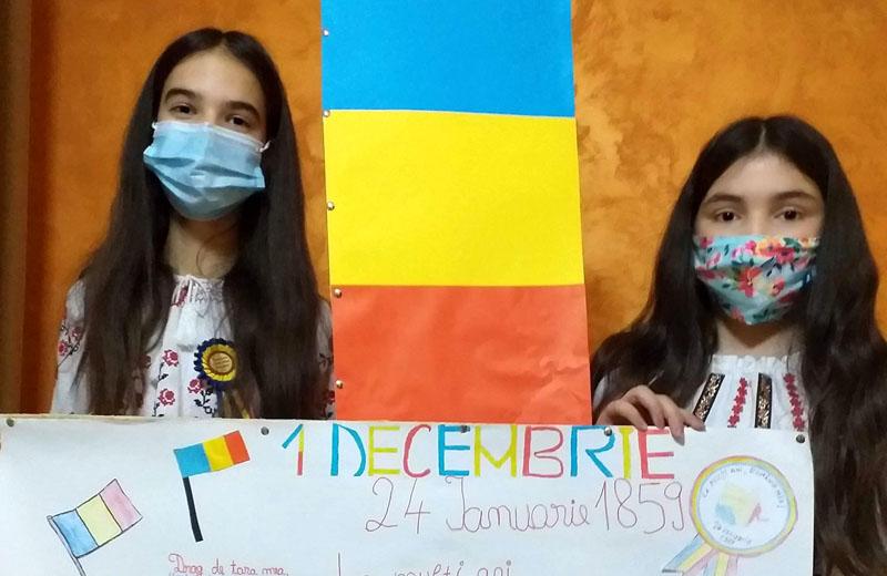 Românie – Colț de rai. Elevii din trei școli din Botoșani și-au unit forțele pentru a marca ziua de 1 Decembrie – Ziua Națională a României