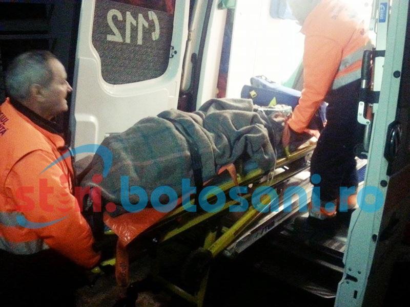 Salvat din șanț de câțiva trecători, un bărbat a ajuns la spital cu temperatura corpului de doar 25,4 grade!