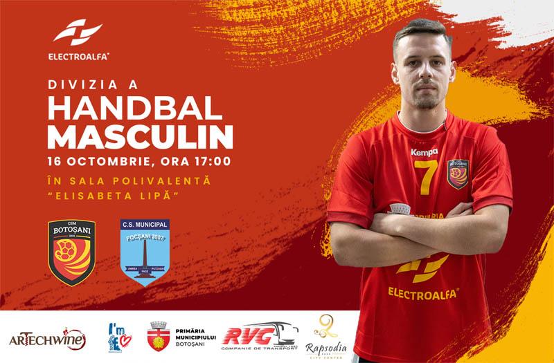 Sâmbătă de la ora 17,00 în Sala Polivalentă: CSM Botoșani - CSM Focșani 2007