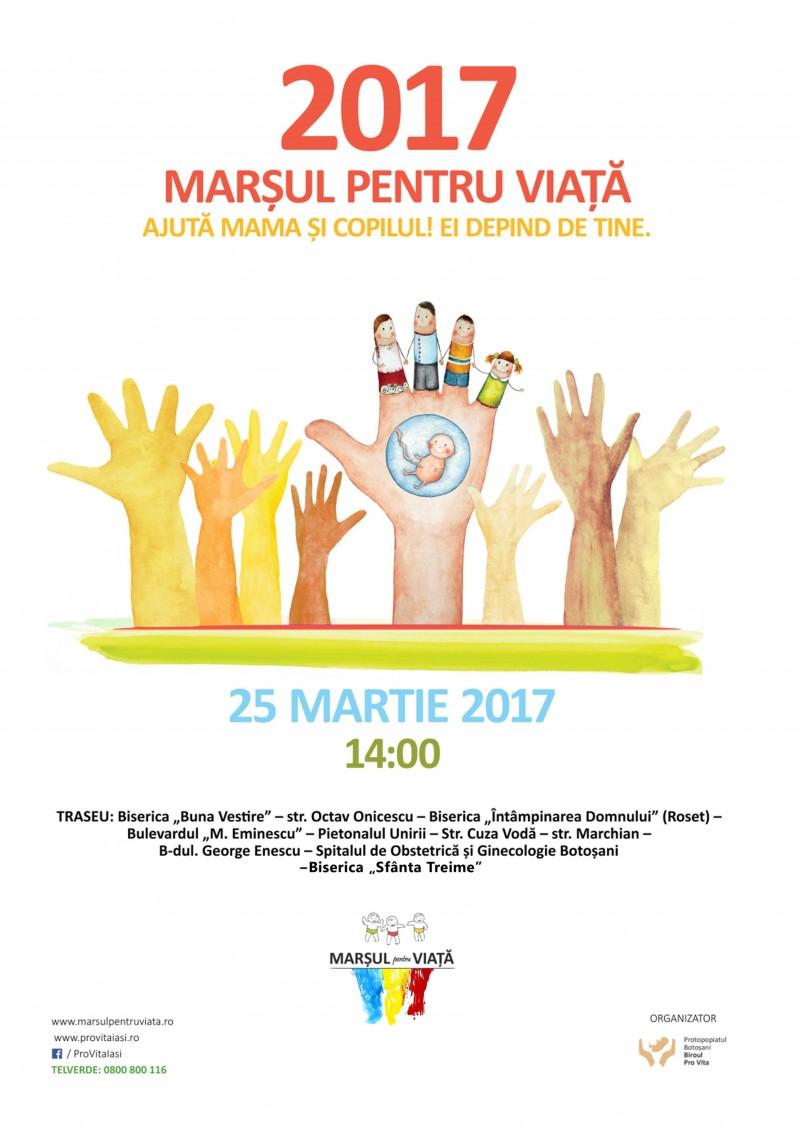 """Sâmbătă, la Botoșani: Marșul pentru Viață - """"Ajută mama și copilul! Ei depind de tine!"""" VIDEO"""