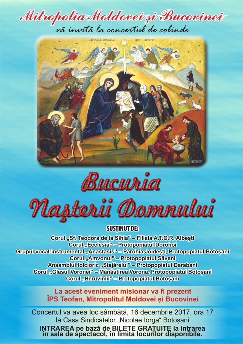 Astăzi: Tradiționalul concert de colinde, în prezența ÎPS Teofan!