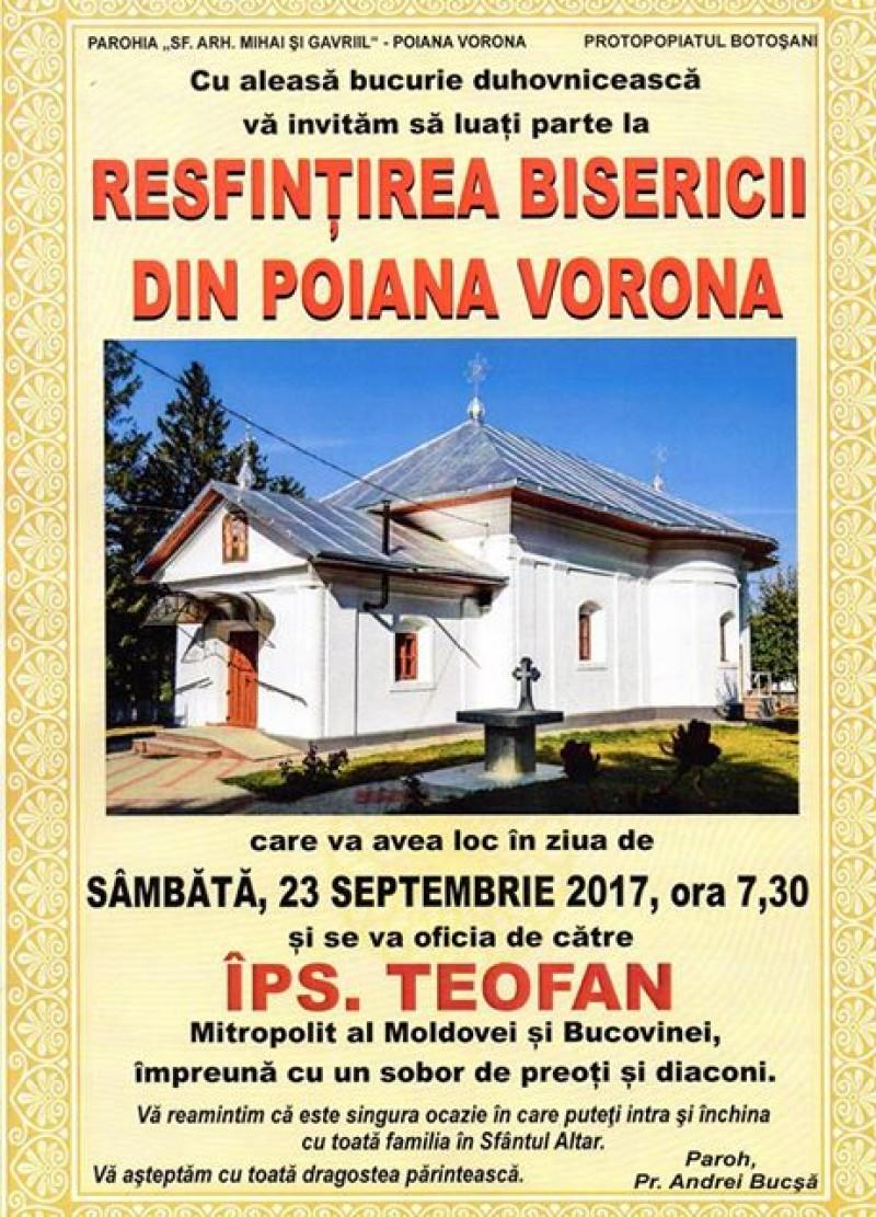 Sâmbătă și duminică: Două biserici din județul Botoșani vor fi sfințite de către IPS Teofan!