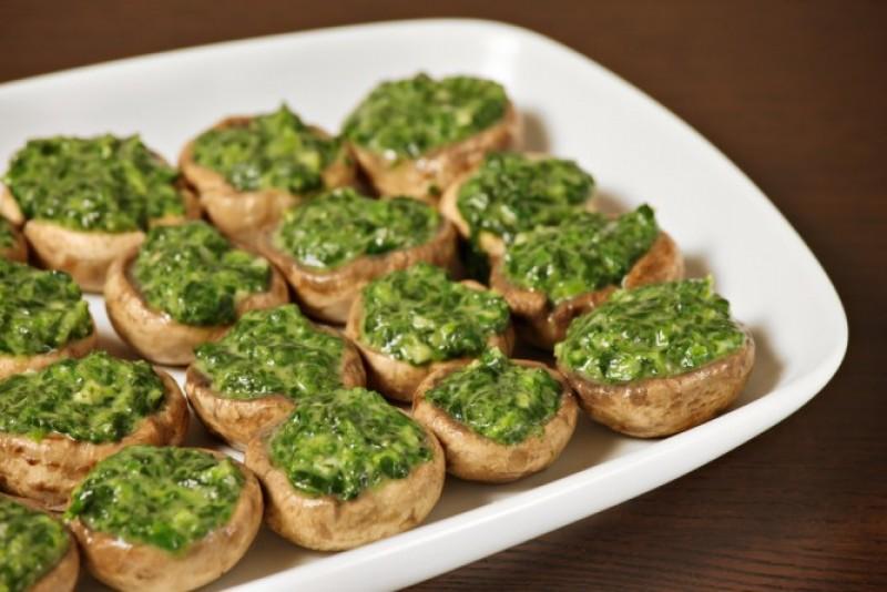 Sănătate de post: Ciuperci umplute cu spanac!