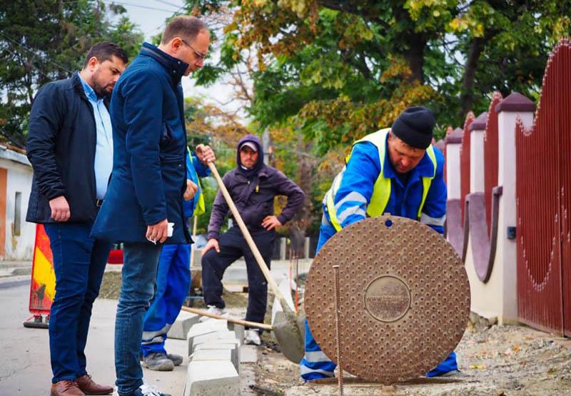 Șantiere inspectate de primarul Cosmin Andrei