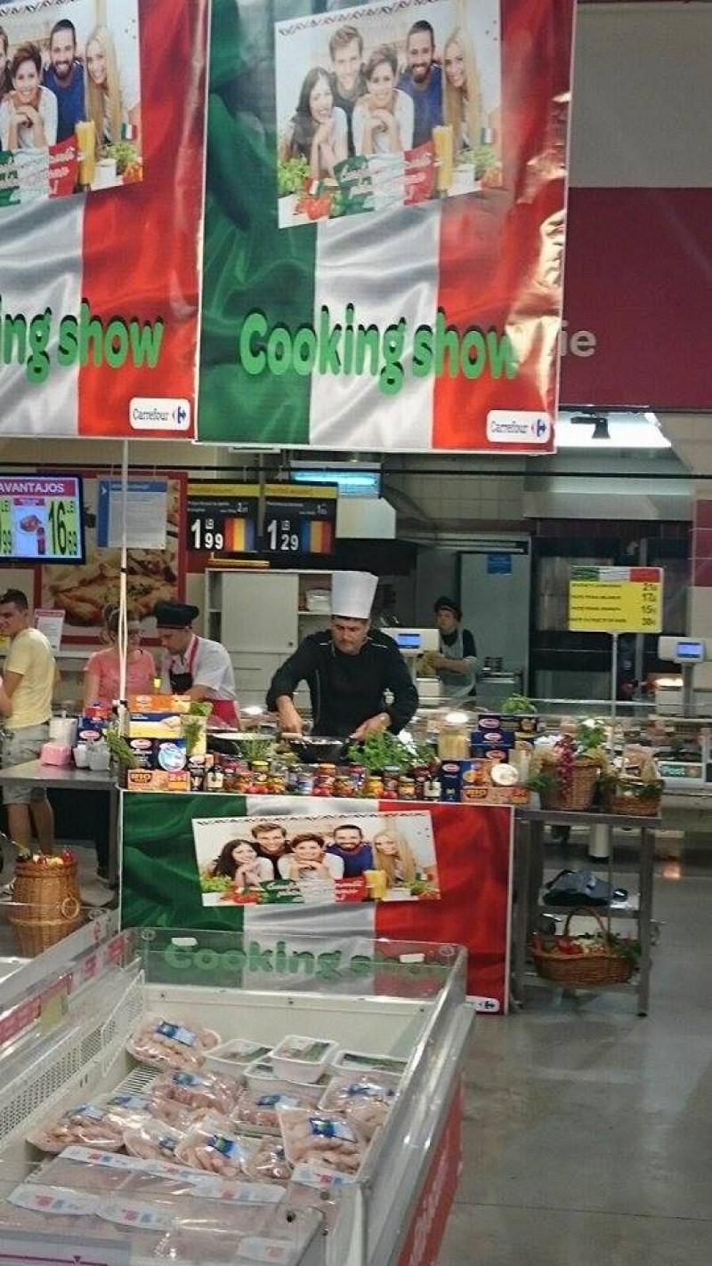 Săptămâna italiană sărbătorită la Carrefour.
