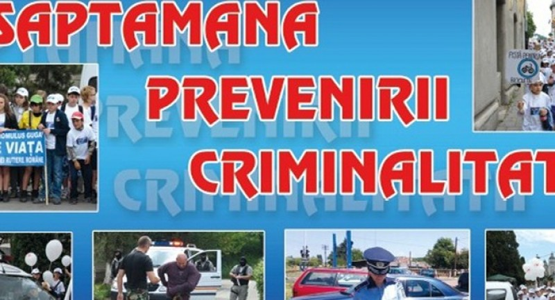Săptămâna prevenirii criminalității, la Botoșani!