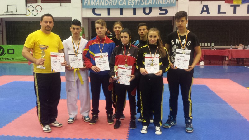 Sapte medalii obtinute de cei mai buni sportivi ai judetului Botosani la Campionatul National de Juniori si Seniori la TAEKWONDO WTF