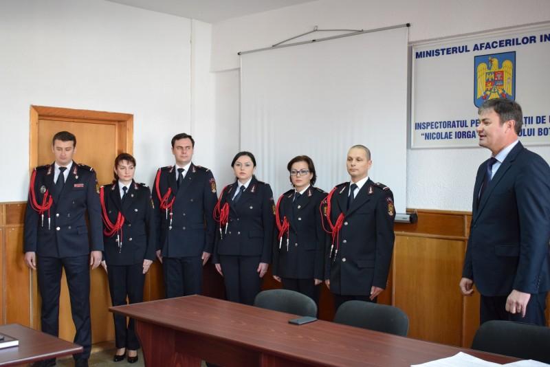 Şase angajaţi ai ISU au trecut în corpul ofiţerilor - FOTO