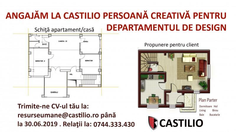 SC Castilio SRL angajeaza designer