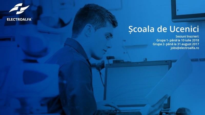 Școala de Ucenici Electroalfa, program de calificare într-o meserie tehnică pentru absolvenții de școli profesionale și licee tehnice